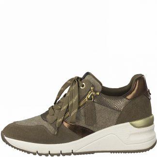 Lime Shoe Co-Berwick upon Tweed-Tamaris-23702-Ladies-Trainer-Peppercomb-Lace Up-Comfort-Flat-Autumn-Winter-2021