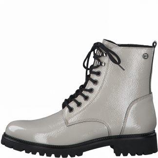 Lime Shoe Co-Berwick upon Tweed-Tamaris-25234-Ivory-Ankle Boot-Side Zip-Comfort-Flat-Autumn-Winter-2021