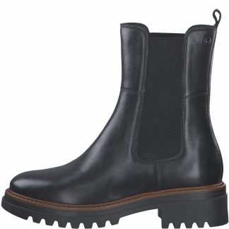 Lime Shoe Co-Berwick upon Tweed-Tamaris-Leather-Chelsea Boot-Ankle Boot-25443-Black-Autumn-Winter-2021-Flat-Comfort