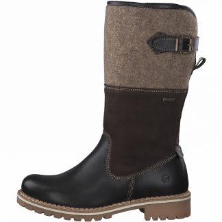 Lime Shoe Co-Berwick upon Tweed-Tamaris-26432-Mid-Calf-Mocha-Side Zip-Warm-Autumn-2021-Boot-Flat-Comfort
