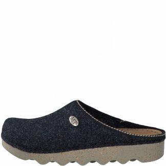 Berwick upon Tweed-Lime Shoe Co-Marco Tozzi-Navy-wool-felt-slippers-mules-comfort-autumn-winter
