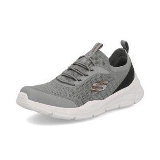 Lime Shoe Co-Berwick upon Tweed-Skechers 232021-Grey-Bungee Laced-Men's-Trainers-Autumn-Winter-2021-Confort-Flat-Gents