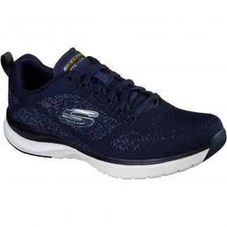 Lime Shoe Co-Berwick upon Tweed-Skechers-Gents-Men's-232030-Blue-Trainer-Lace Up-Comfort-Autumn-Winter-2021