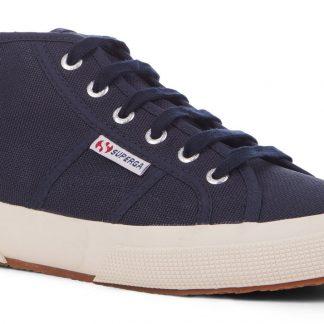 Berwick upon Tweed-Lime Shoe Co-Superga-Navy-Cotu-2754-Laces-Trainer-comfort