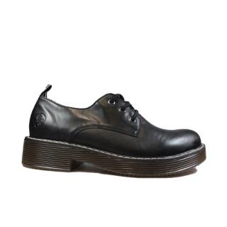 Lime Shoe Co-Berwick upon Tweed-Ladies-Leather-Rieker-Shoe-50010-Black-Autumn-Winter-2021-Flat-Lace Up-Comfort