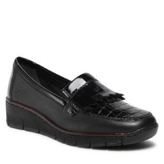 Lime Shoe Co-Berwick upon Tweed-Rieker-Black-Patent-Ladies-Shoe-53764-Comfort-Winter-Autumn-Winter-2021