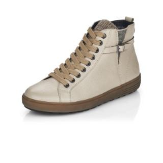 Lime Shoe Co-Berwick upon Tweed-Remonte-Beige-Ankle Boot-Side Zip-Flat-Comfort-Autumn-Winter-2021-D4474