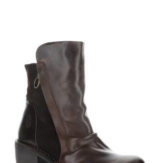 Berwick upon Tweed-Fly London-Lime Shoe Co-MELY-Dark Brown-Expresso-comfort-leather-side zip-block heel-autumn-winter
