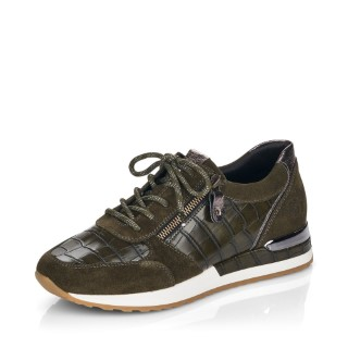 Lime Shoe Co-Berwick upon Tweed-Remonte-Ladies-Green-Trainers-R2530-Leather-Comfort-Lace Up