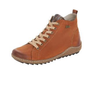 Lime Shoe Co-Berwick upon Tweed-Remonte-Brown-Ladies-Ankle Boot-Leather-Autumn-Winter-2021-Comfort-Flat-Zip