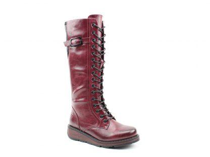 Berwick upon Tweed-Lime Shoe co-Heavenly Feet-Wine-Red-Vegan-Knee High Boots-Winter-warm