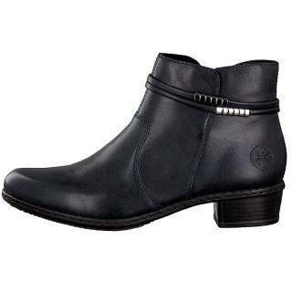 Lime Shoe Co-Berwick upon Tweed-Ladies-Rieker-Navy-Ankle Boot-Side Zip-Comfort-Y0781-Autumn-Winter-2021