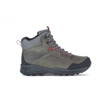 Berwick upon Tweed-Lime Shoe Co-Merrell-Gents-Mens-Waterproof-Mid Boot-J034767-Grey-Laces-Winter-Autumn