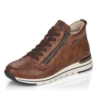 Lime Shoe Co-Berwick upon Tweed-Remonte-High Top-Leather-Brown-Trainer-Autumn-WInter-2021-Comfort-Flat-R6770
