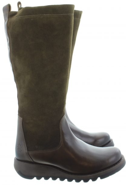 Berwick upon Tweed-Lime Shoe Co-Fly London-SEME-Olive-sludge-leather-suede-knee length-boots-winter-autumn-comfort