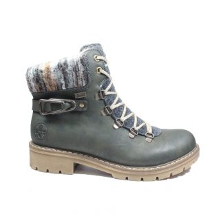 Lime Shoe Co-Berwick upon Tweed-Rieker-Ladies-Green-Lace Up-Ankle Boot-Antumn-Winter-2021
