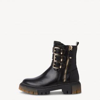 Lime Shoe Co-Berwick upon Tweed-Marco Tozzi-Ladies-Black-Cuban Heel-Ankle Boot-Buckle-25862-Autumn-Winter-2021