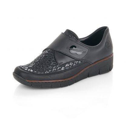 Berwick upon Tweed-Lime Shoe Co-Rieker-Black-Shoe-Velcro Strap-comfort-winter