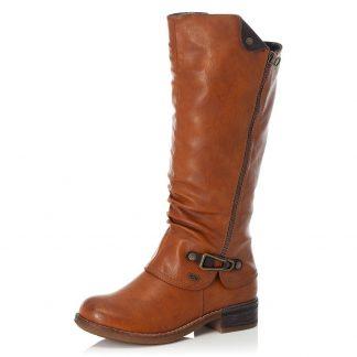 Berwick upon Tweed-Lime Shoe Co-Rieker-Tan-Water resistant-side zip-warm lined-winter