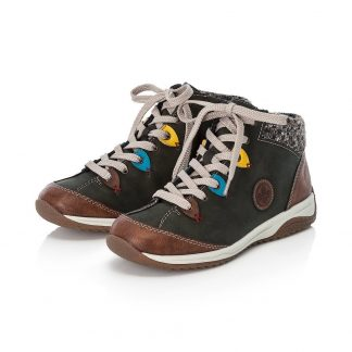 Berwick upon Tweed-Lime Shoe Co-Rieker-Green-Ankle Boot-side zip-laces-flat-winter-warm