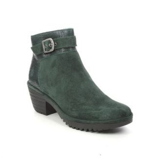 Berwick upon Tweed-Lime Shoe Co-Fly London-WISP-Ankle Boots-Leather-Suede-Green-croc-winter-autumn