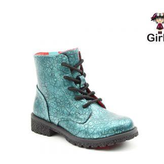Berwick upon Tweed-Lime Shoe Co-Kids-Girls-Ankle Boots-Vegan-Laces-Zip-Ocean-Heavenly Feet