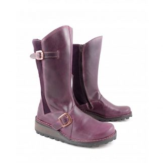 Lime Shoe Co-Berwick upon Tweed-Fly London-Mes 2-Rug-Purple-Buckle-Side Sip-Mid Calf-Boot-Autumn-Winter-2021