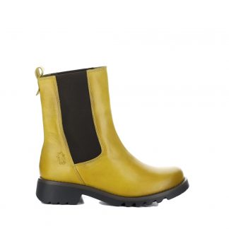 Lime Shoe Co-Berwick upon Tweed-Fly London-Mustard-Ladies-Leather-Chelsea Boot-Chunky-Pull On-Autumn-Winter-2021