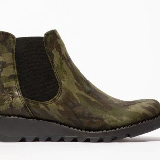 Lime Shoe Co-Berwick upon Tweed-Fly London-Salv-Camo-Autumn-Winter-2021-Ladies-Leather-Chelsea-Ankle Boot
