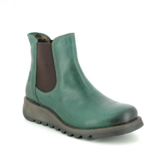 Lime Shoe Co-Berwick upon Tweed-Fly London-Salv-Shamrock-Green-Ladies-Leather-Ankle-Chelsea-Boot-Autumn-Winter-2021